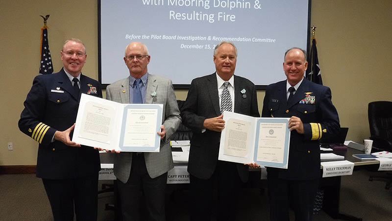 Houston Pilots are presented with the Meritorious Public Service Award.